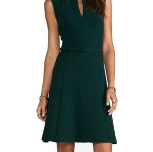 COPY - Trina Turk Hunter Green A-Line Dress